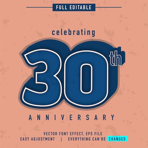 Wir feiern den 30-jährigen jubiläumstext