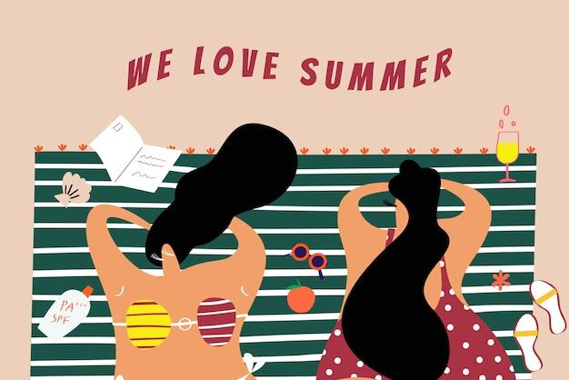 Wir lieben den sommer