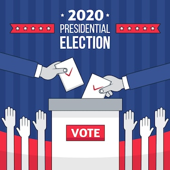 Wir präsidentschaftswahl illustration