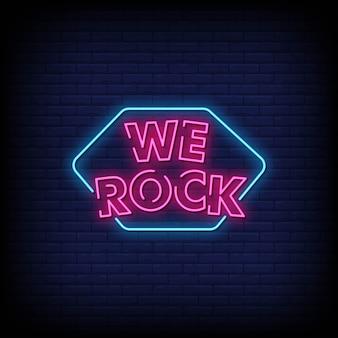 Wir rocken neon signs style text