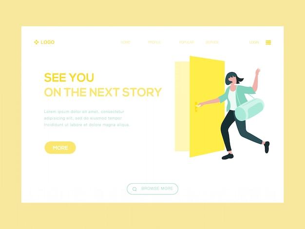 Wir sehen uns auf der nächsten story web illustration