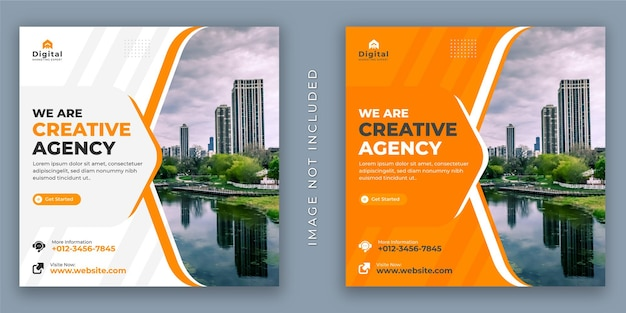 Wir sind creative agency und corporate business flyer