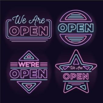 Wir sind offen - leuchtreklamensammlung