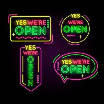 Wir sind offen neon sign pack