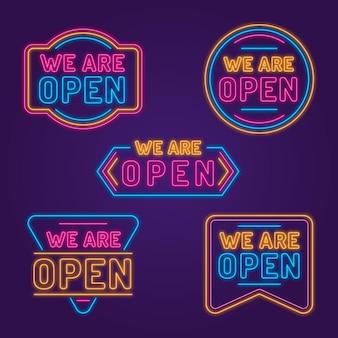 Wir sind offene leuchtreklamensammlung