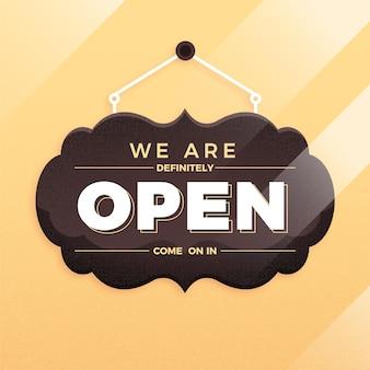 Wir sind offenes zeichenkonzept