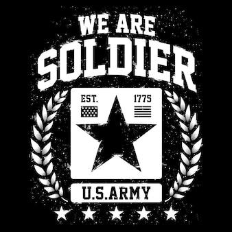 Wir sind soldat, themen der us-armee, american patriot design