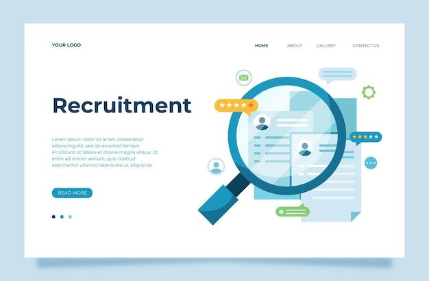 Wir stellen ein konzept einrecruitment process vector illustrationwerden sie unser team
