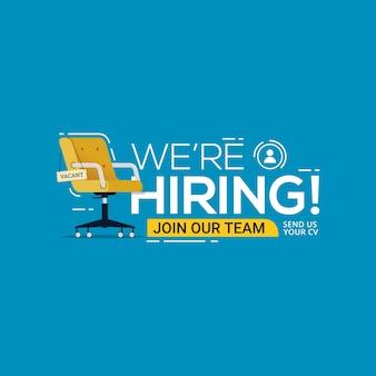 Wir suchen freie stellen für die rekrutierung von unternehmen