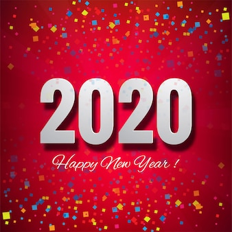 Wir wünschen ihnen eine schöne karte des guten rutsch ins neue jahr 2020