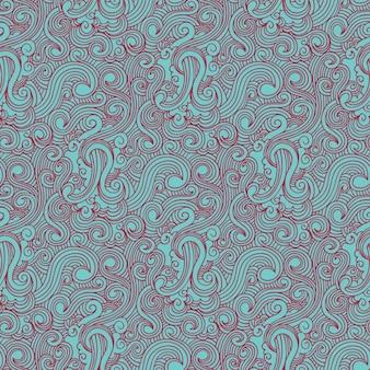 Wirbeln rote und hellblau gezeichnete muster