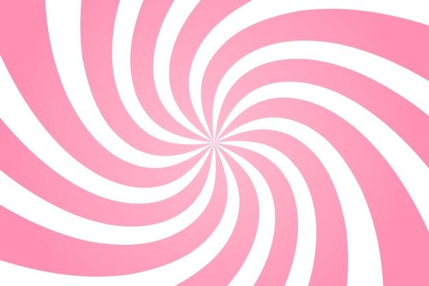 Wirbelnder radialer musterhintergrund. vektorillustration für strudeldesign. vortex starburst spiralwirbelquadrat. helix-rotationsstrahlen. konvergierende psychadelische skalierbare streifen. spaß sonne lichtstrahlen.