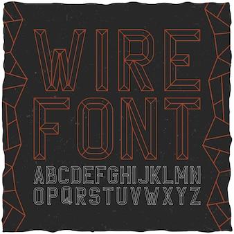 Wirefont auf schwarz