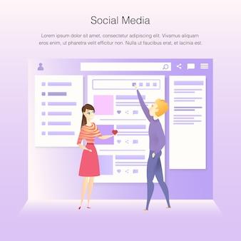 Wireframe-entwicklungsprozess der schnittstelle des sozialen netzes