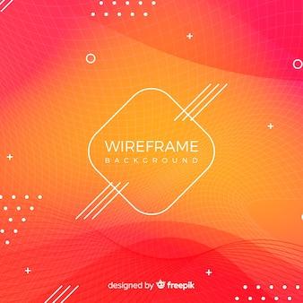 Wireframe-hintergrund