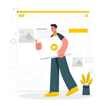 Wireframing-konzeptillustration