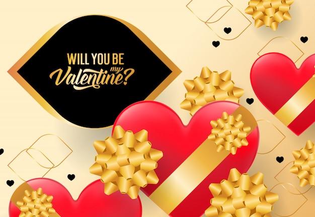 Wirst du mein valentine-schriftzug sein?