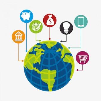 Wirtschaft, geld und globale wirtschaft