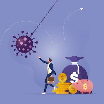 Wirtschaftliche impulse zum schutz des unternehmens vor dem konkurskonzept