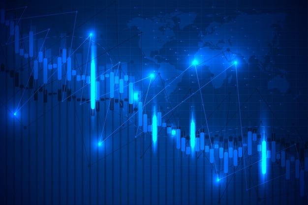 Wirtschaftliches diagramm mit diagrammen an der börse.
