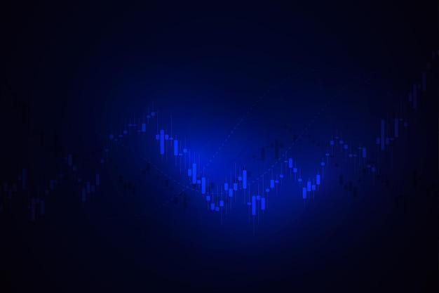 Wirtschaftsdiagramm mit diagrammen an der börse, für geschäfts- und finanzkonzepte und berichte. japanische kerzen. abstrakter vektorhintergrund vector