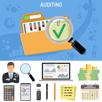 Wirtschaftsprüfung, business accounting concept