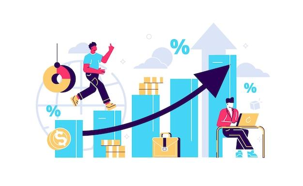 Wirtschaftsprüfung und finanzmanagement. einkommen steigern konzept increase