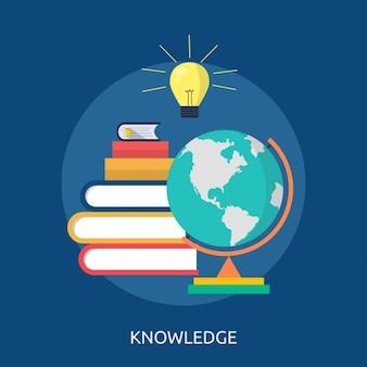 Wissen hintergrund-design