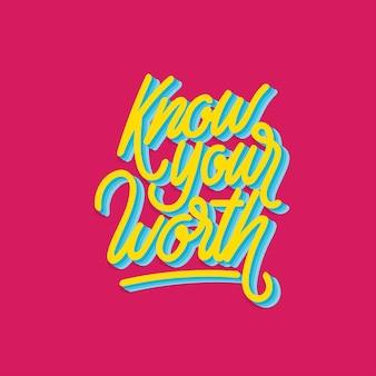 Wissen sie, was es wert ist, typografie zu schreiben