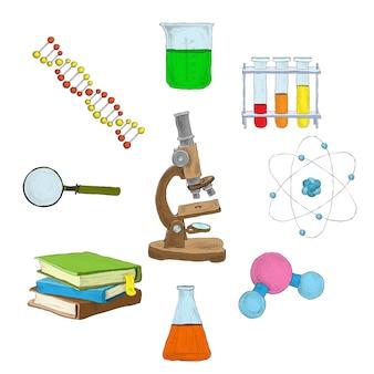 Wissenschaft dekorative elemente
