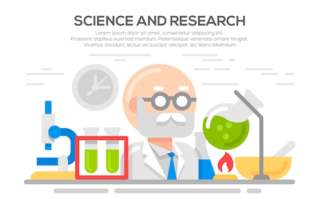 Wissenschaft flache konzept illustration.