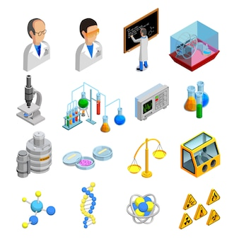 Wissenschaft icons set