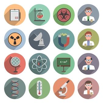 Wissenschaft-symbol flach