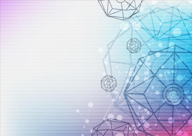 Wissenschaft technologie abstrakten hintergrund