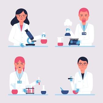 Wissenschaftler arbeiten sammlung