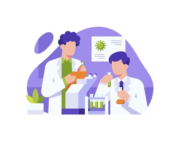 Wissenschaftler arbeiten sehr hart daran, im labor einen impfstoff zur behandlung des coronavirus zu finden