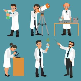 Wissenschaftler charaktere gesetzt