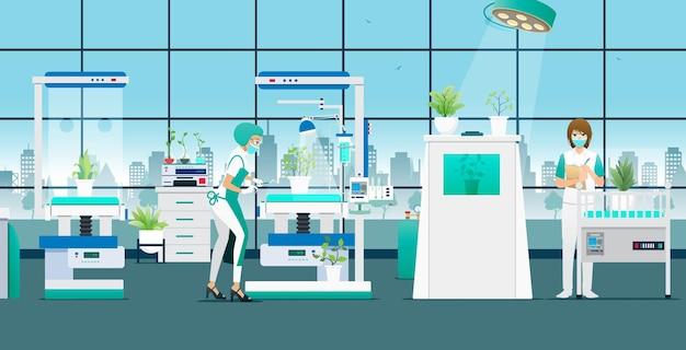 Wissenschaftler forschen und experimentieren mit pflanzen zur behandlung von krankheiten