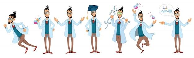 Wissenschaftler illustration zeichensatz