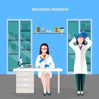 Wissenschaftler-leute-farbige zusammensetzung