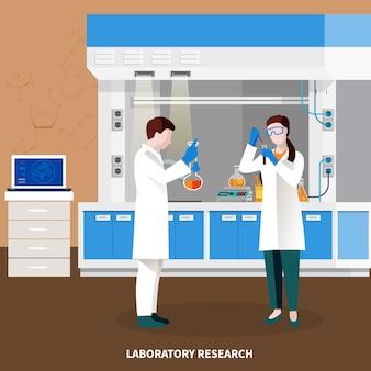 Wissenschaftler-leute-mehrfarbige zusammensetzung