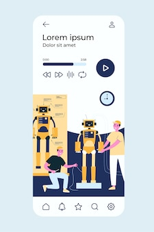 Wissenschaftler und ingenieure entwickeln und konstruieren humanoide roboter.
