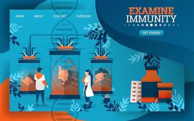 Wissenschaftler untersuchen und untersuchen das immunsystem des menschlichen körpers.