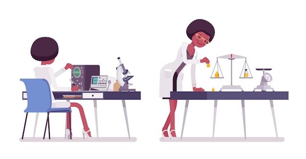 Wissenschaftlerin messen