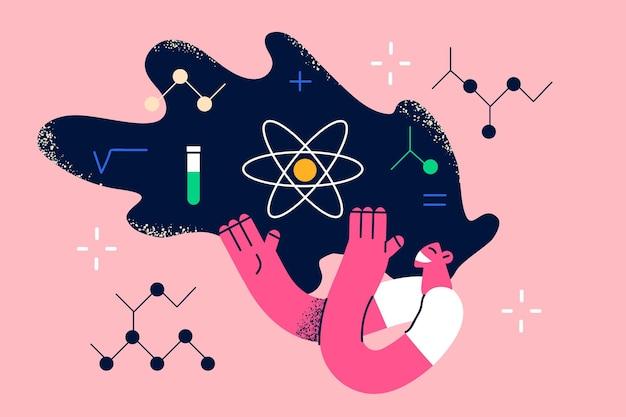 Wissenschaftlerin und forschungskonzept