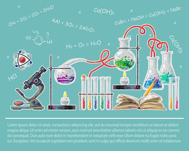 Wissenschaftlich gefärbtes konzept