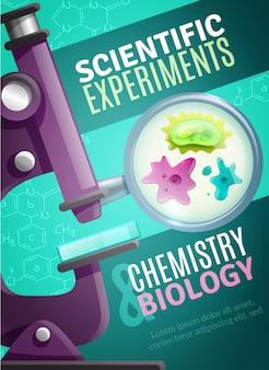 Wissenschaftliche experimente plakat vorlage