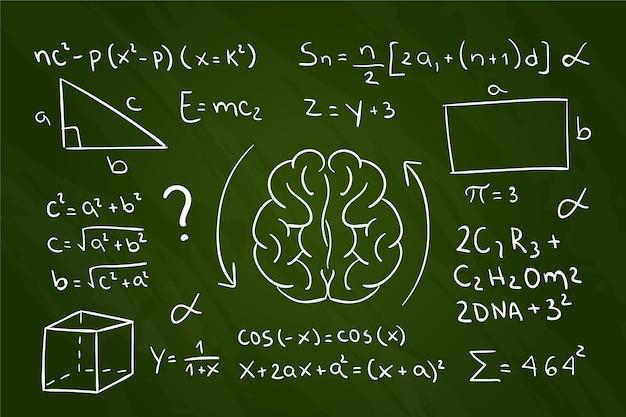 Wissenschaftliche formeln des handgezeichneten stils