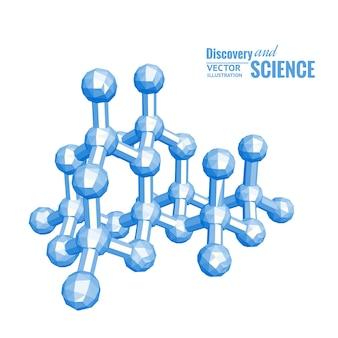 Wissenschaftliche illustration des moleküls