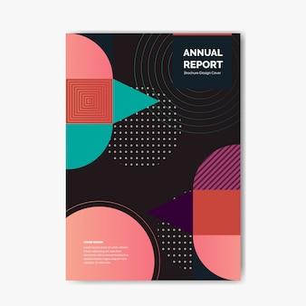 Wissenschaftliche jahresbericht cover template design